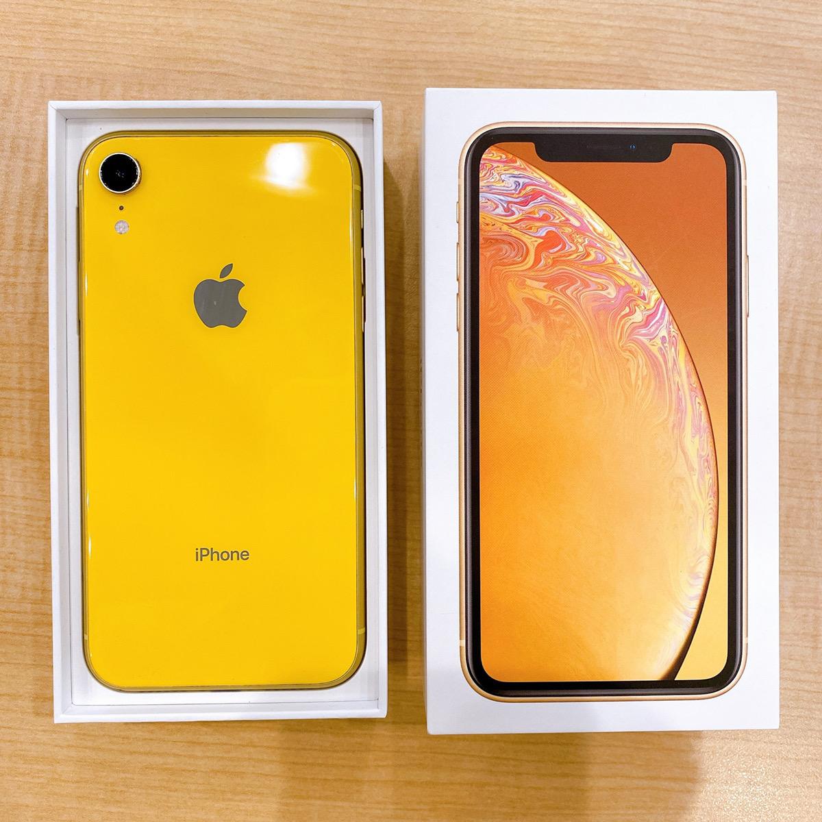 iPhoneXR 128GB イエローDocomo〇 中古