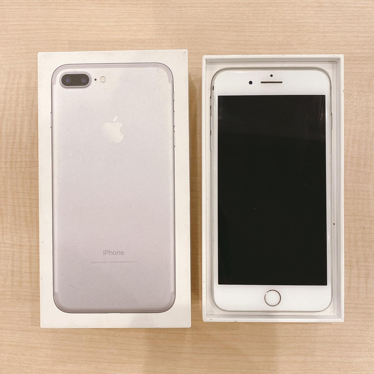 iPhone7Plus 256GB シルバー Softbank〇 中古