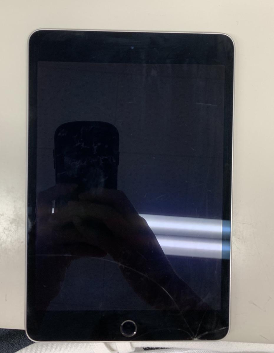 iPad mini4 64GB グレー モデルMK9G2J/A  シリアルDLXR84WDGHKF 画面割れ