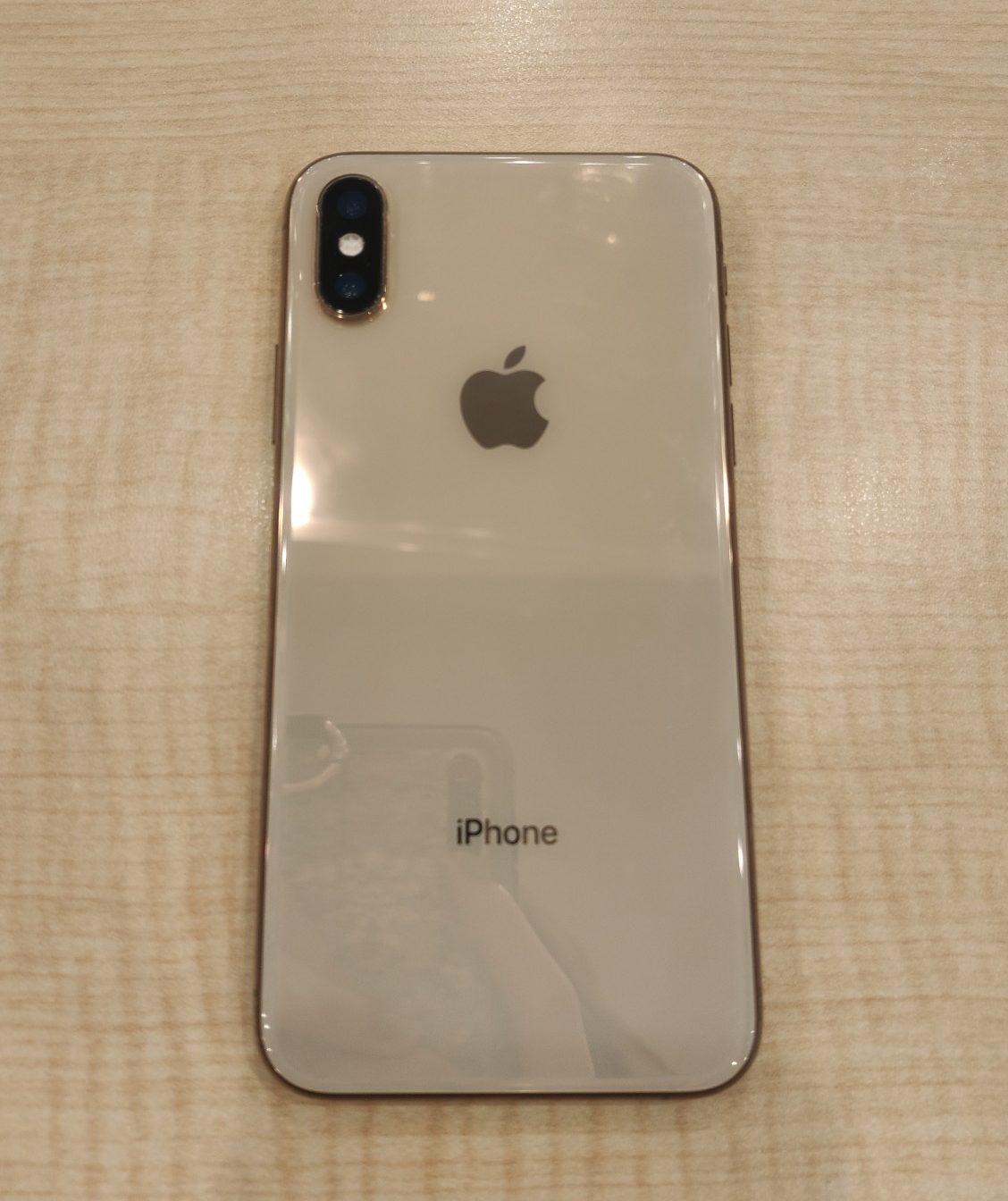 iPhoneXS 256GB au △ 中古 画面カメラレンズ割れ