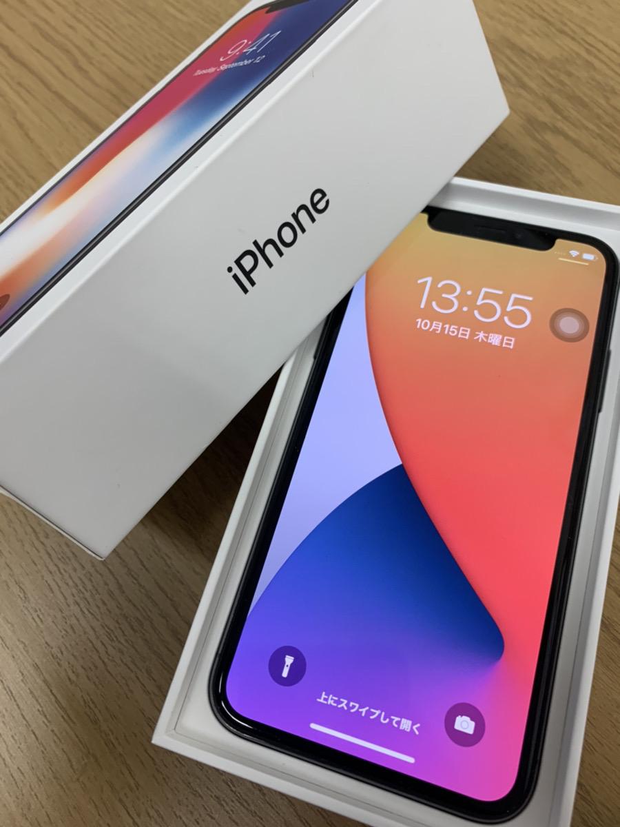 iPhoneX 256GB スペースグレー docomo○ ジャンク品(上部タッチ不良)