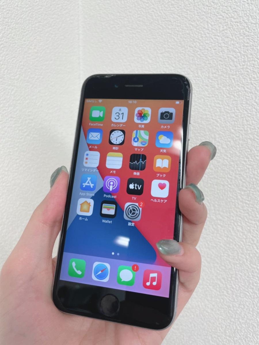 iPhone6s 64GB スペースグレー softbank○ ジャンク品(画面割れ、バッテリー劣化)
