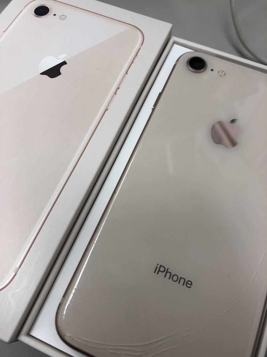 iPhone 8 256GB ゴールド 背面割れ
