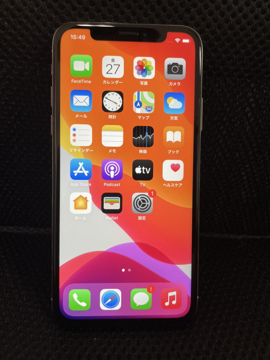 iPhoneX 256GB シルバー SIMフリー ジャンク品(Face ID使用不可、画面一部タッチ不可)