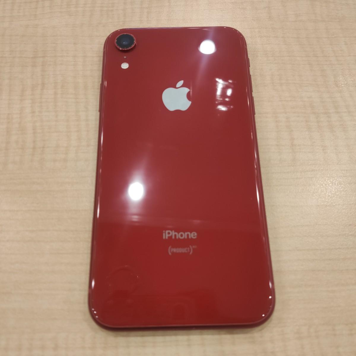 iPhoneXR 256GB レッドau△中古