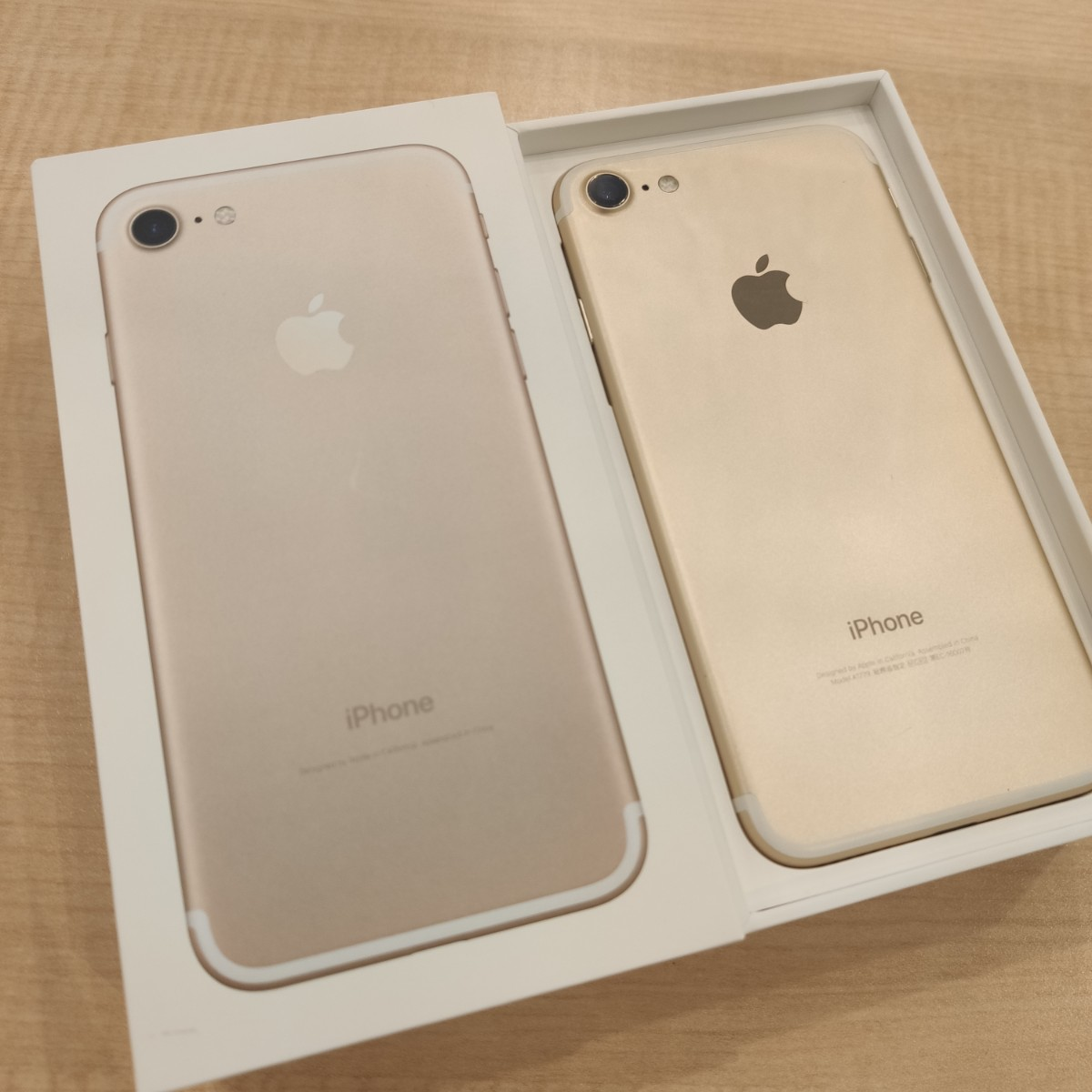iPhone7 128GB ゴールド 中古 付属品フルセット