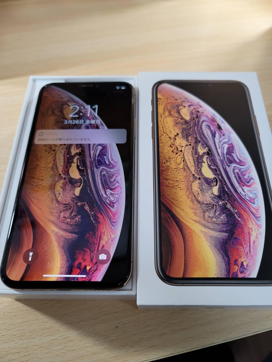 iPhoneXS,SB,256GB,ゴールド
