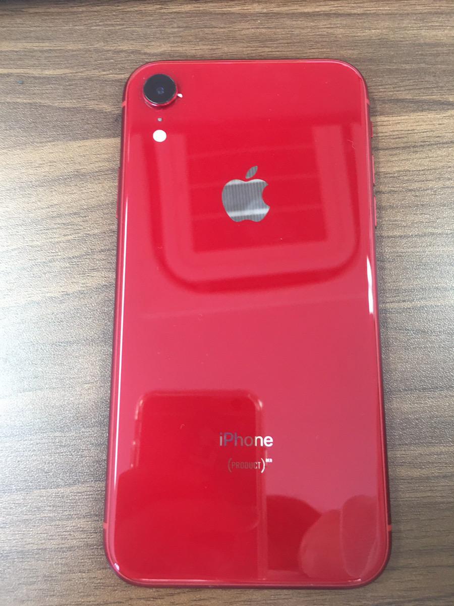 iPhoneXR レッド 128GB SB△ 中古本体のみ