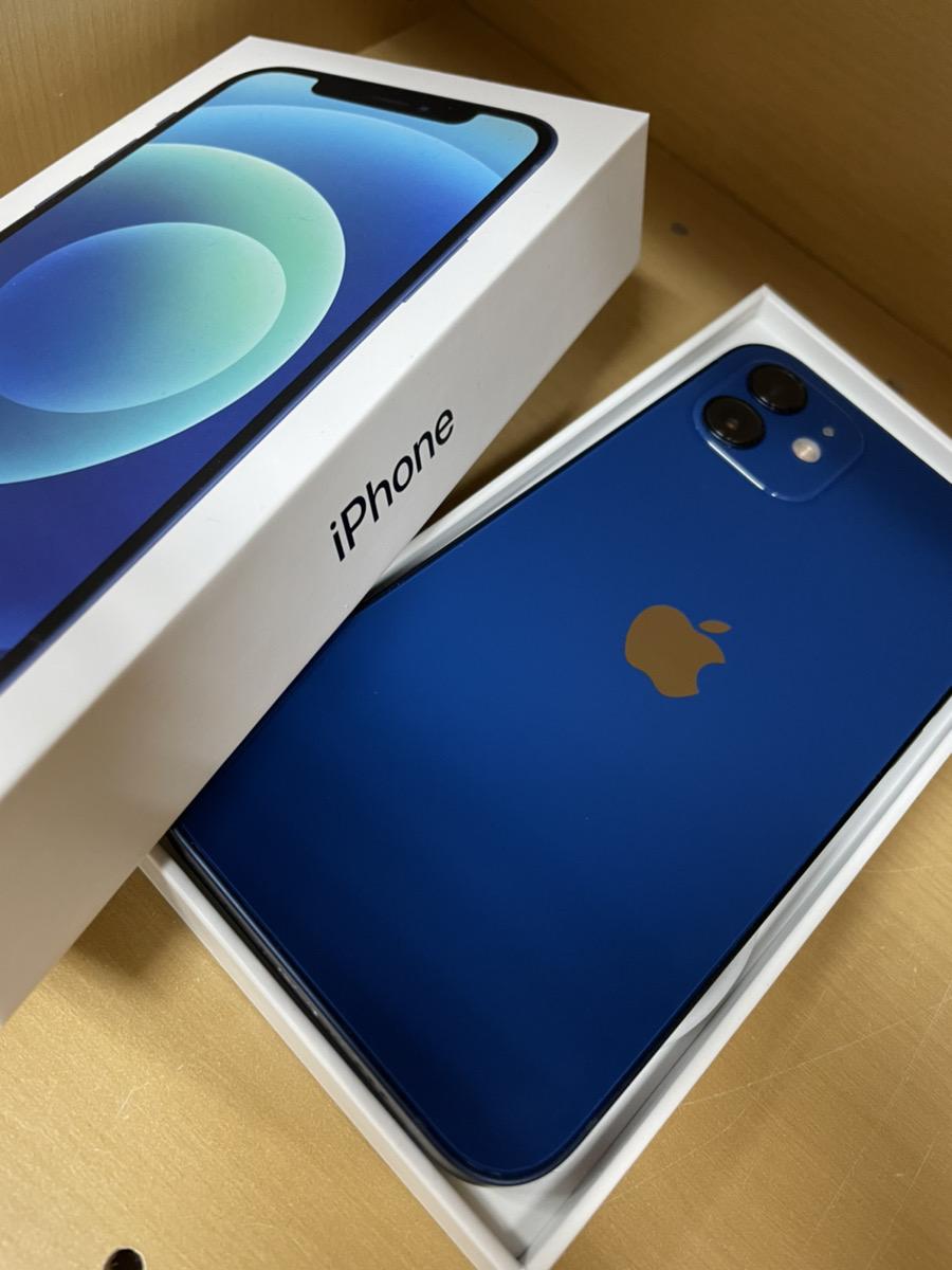 iPhone12 64GB ブルー au 中古品