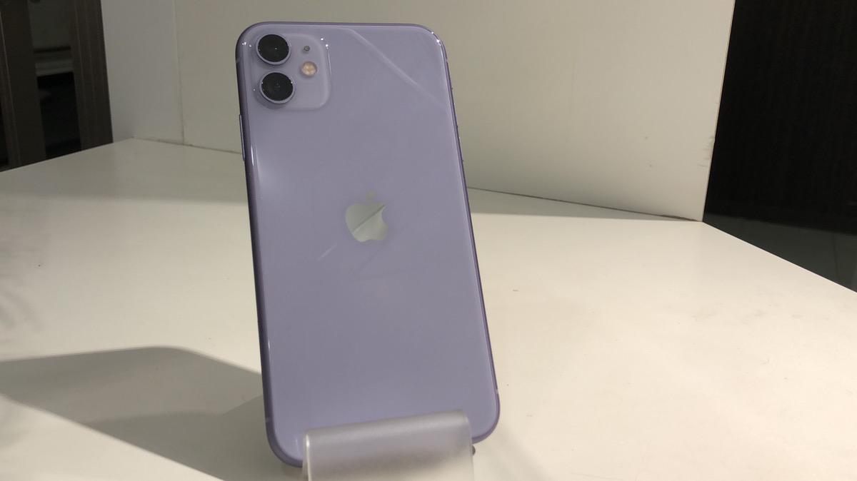 iPhone11128GBパープルSIMフリー〇中古