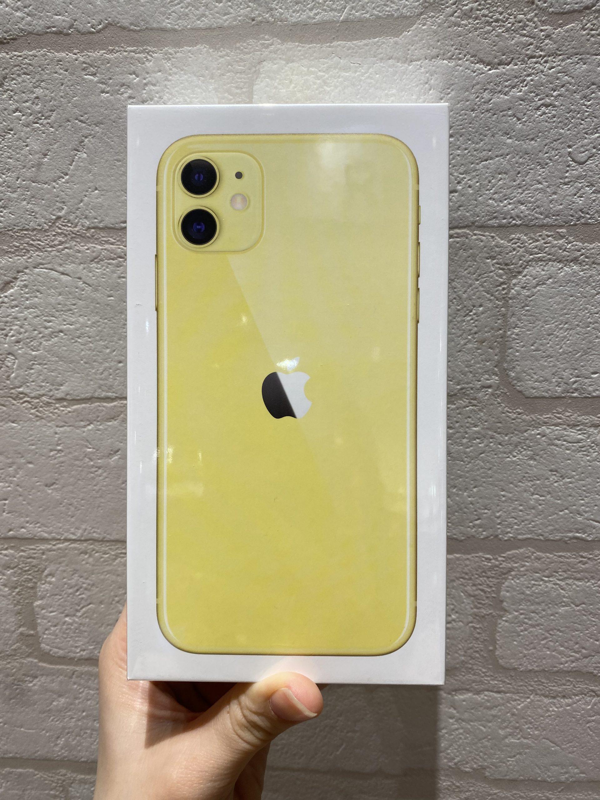 iPhone11 simフリー 新品未開封 イエロー 128GB