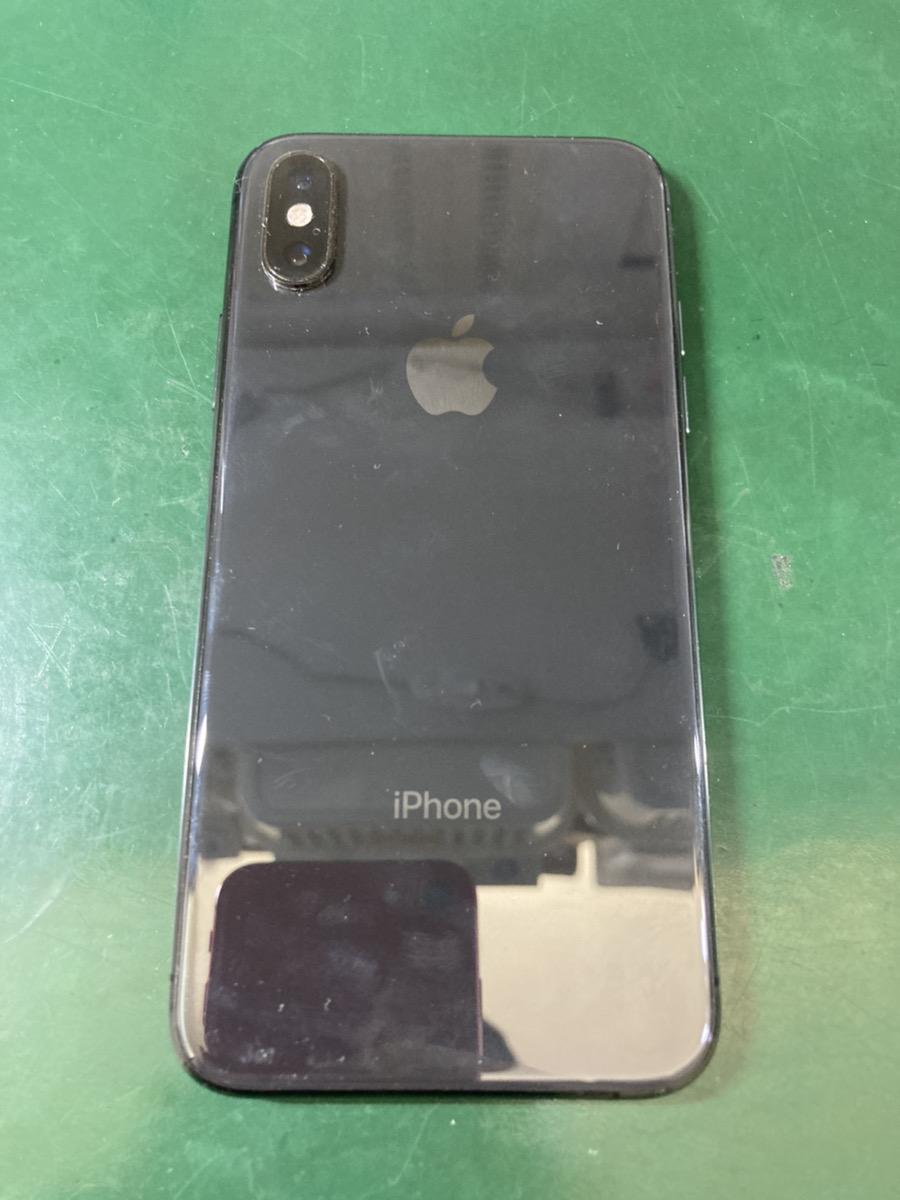 iPhoneX 64GB スペースグレー au ○