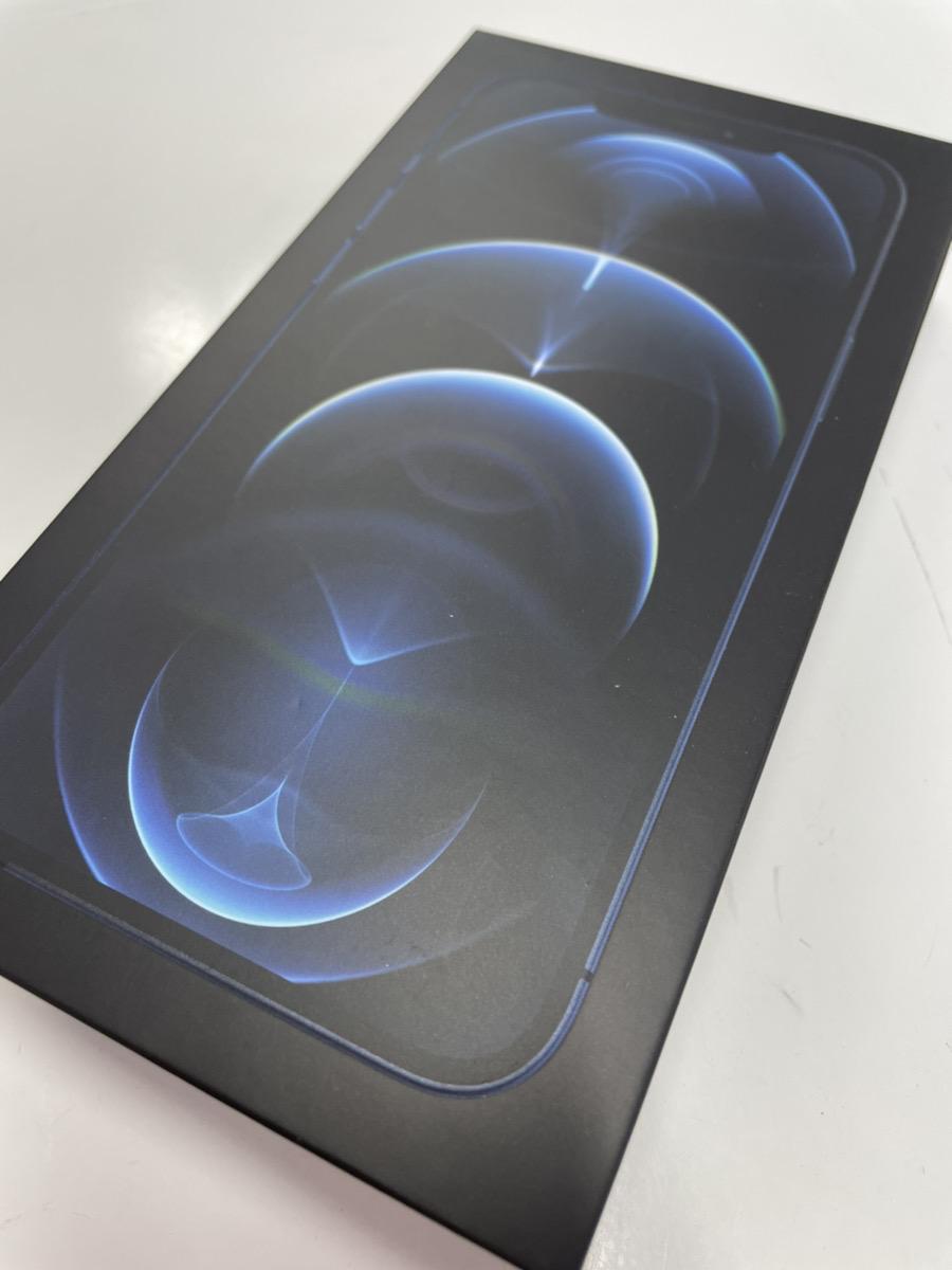 iPhone12ProMax128GBパシフィックブルーSoftbank△中古品