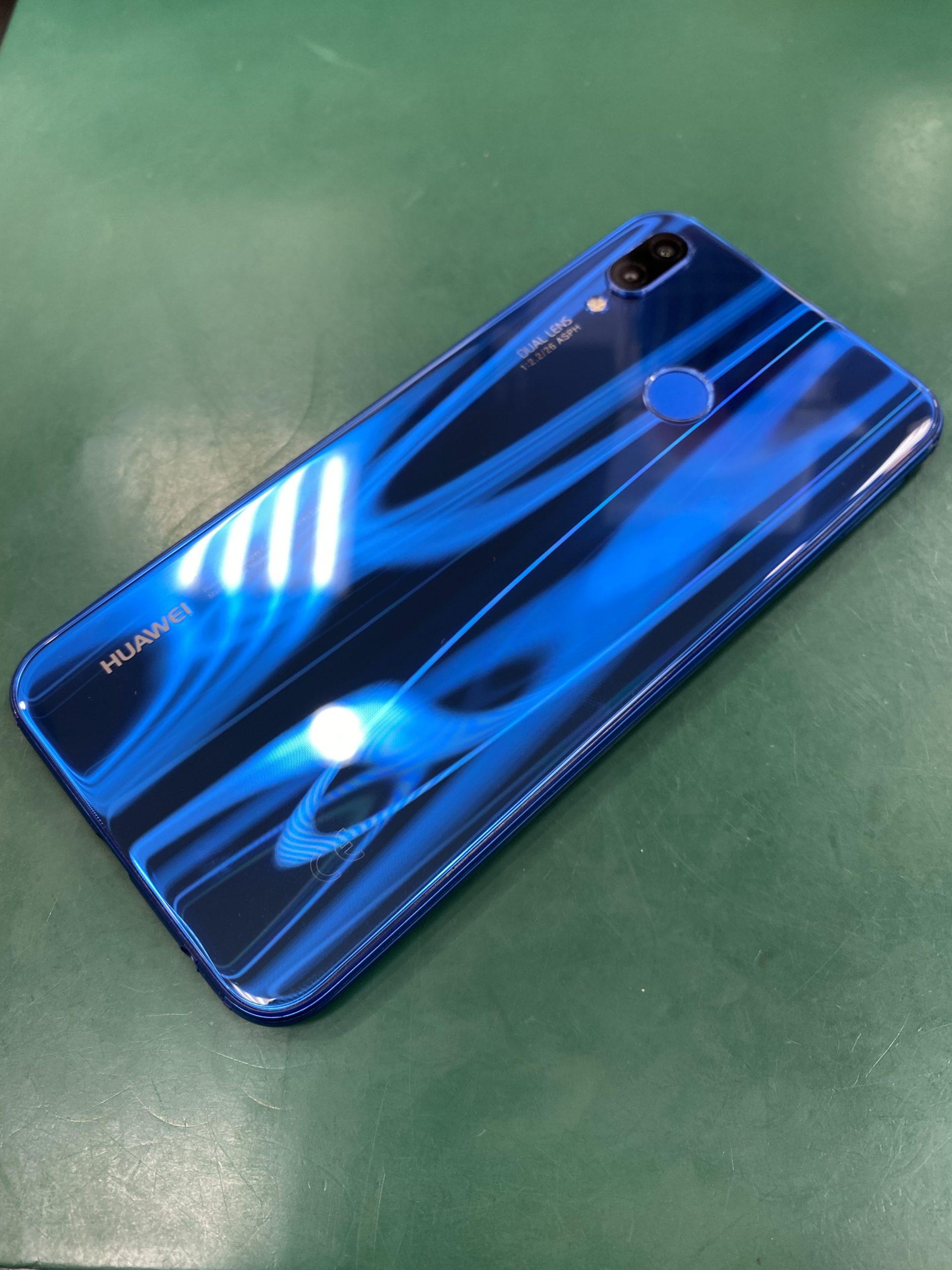 Huawei P20lite32GBクラインブルーUQmobile〇中古