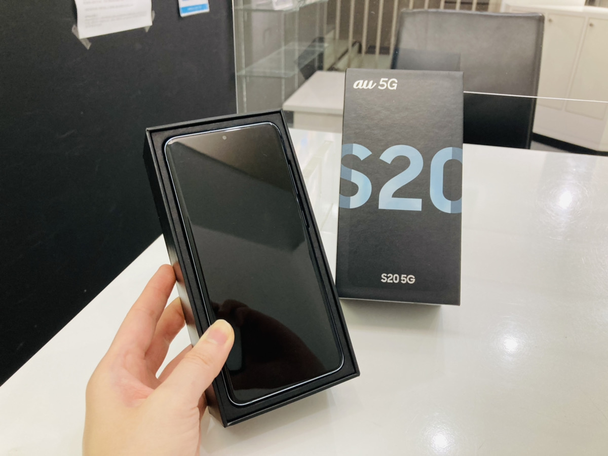 Galaxy S20 5G au△ 中古箱付属品あり