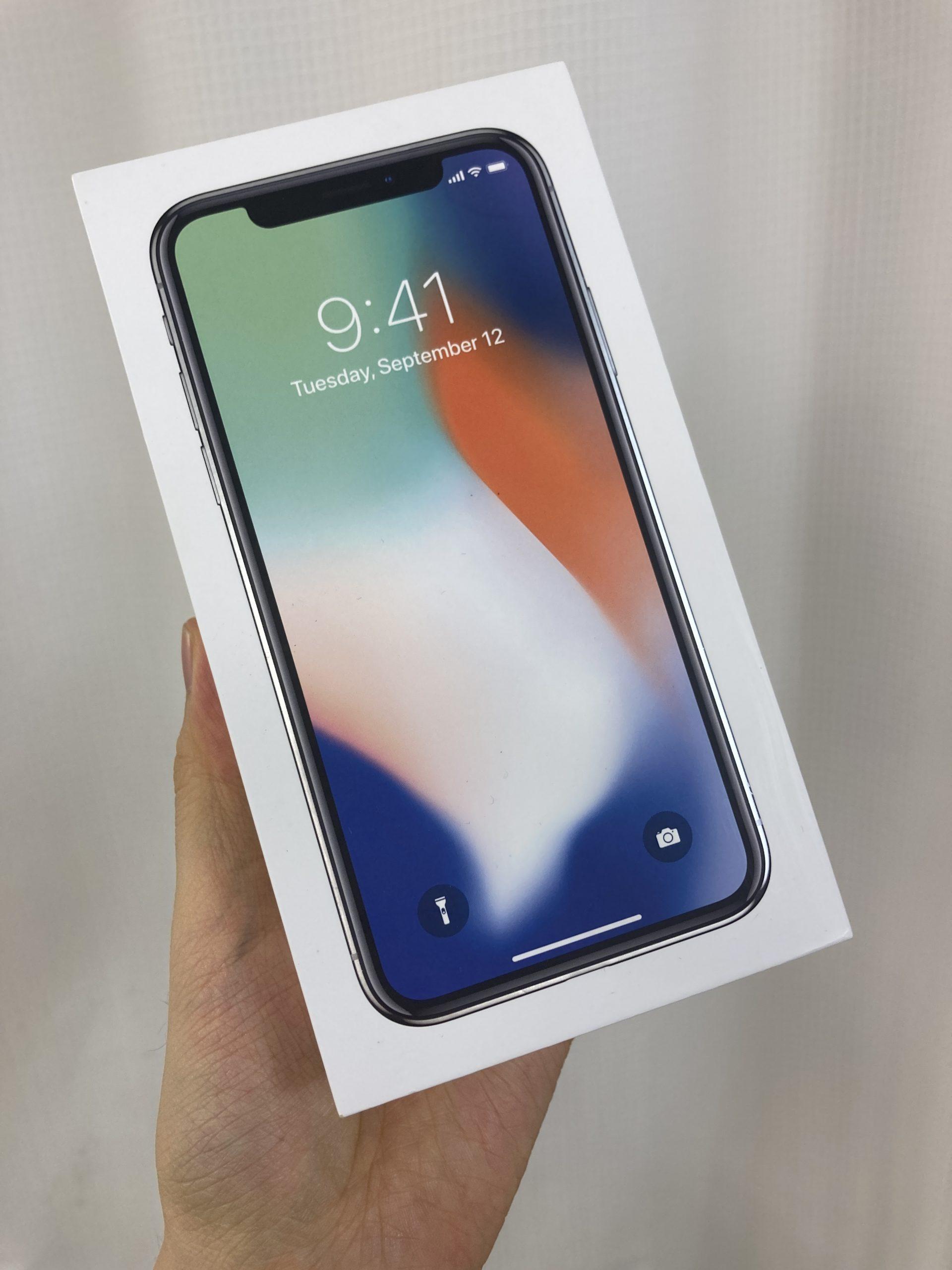 iPhoneX 256GB シルバー au〇 中古