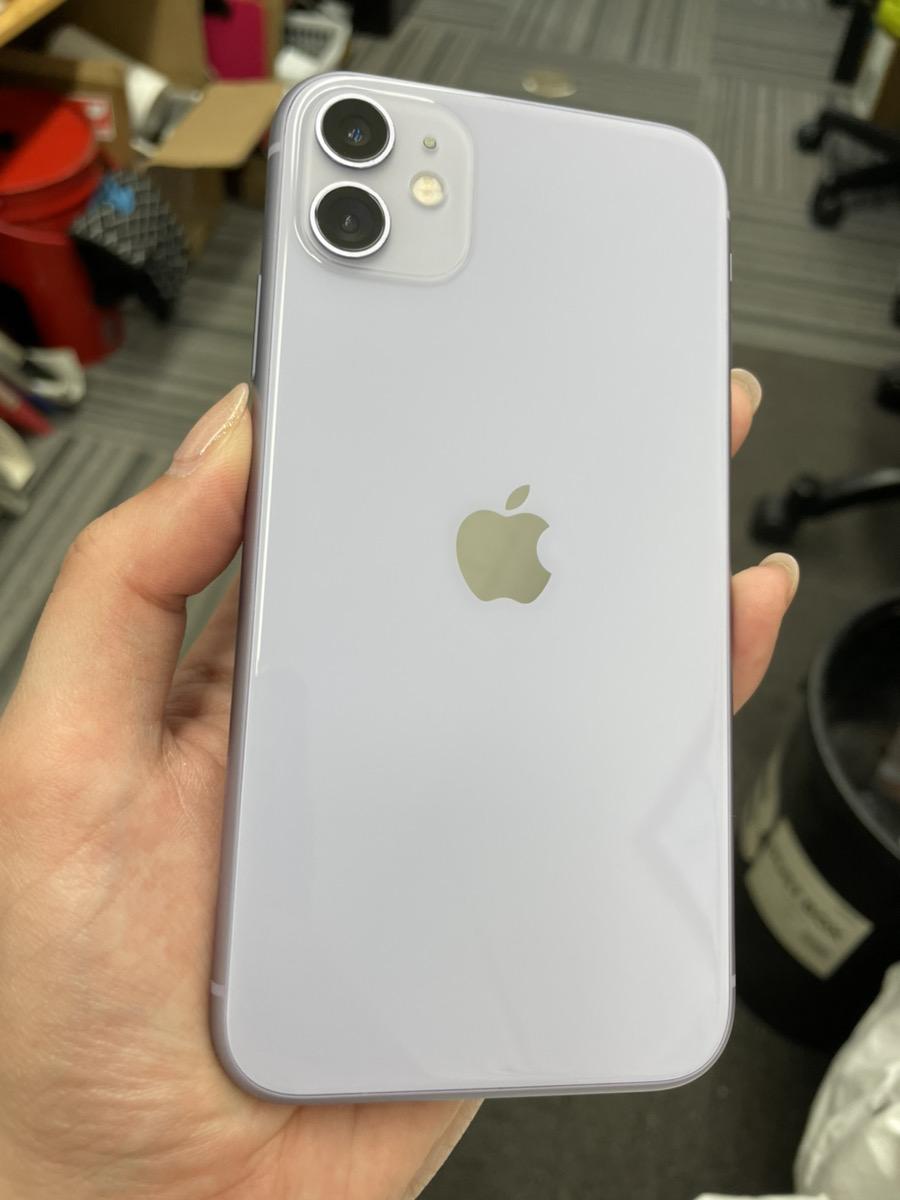 iPhone11 128GB パープル SoftBank△ SIMロック解除済み  中古