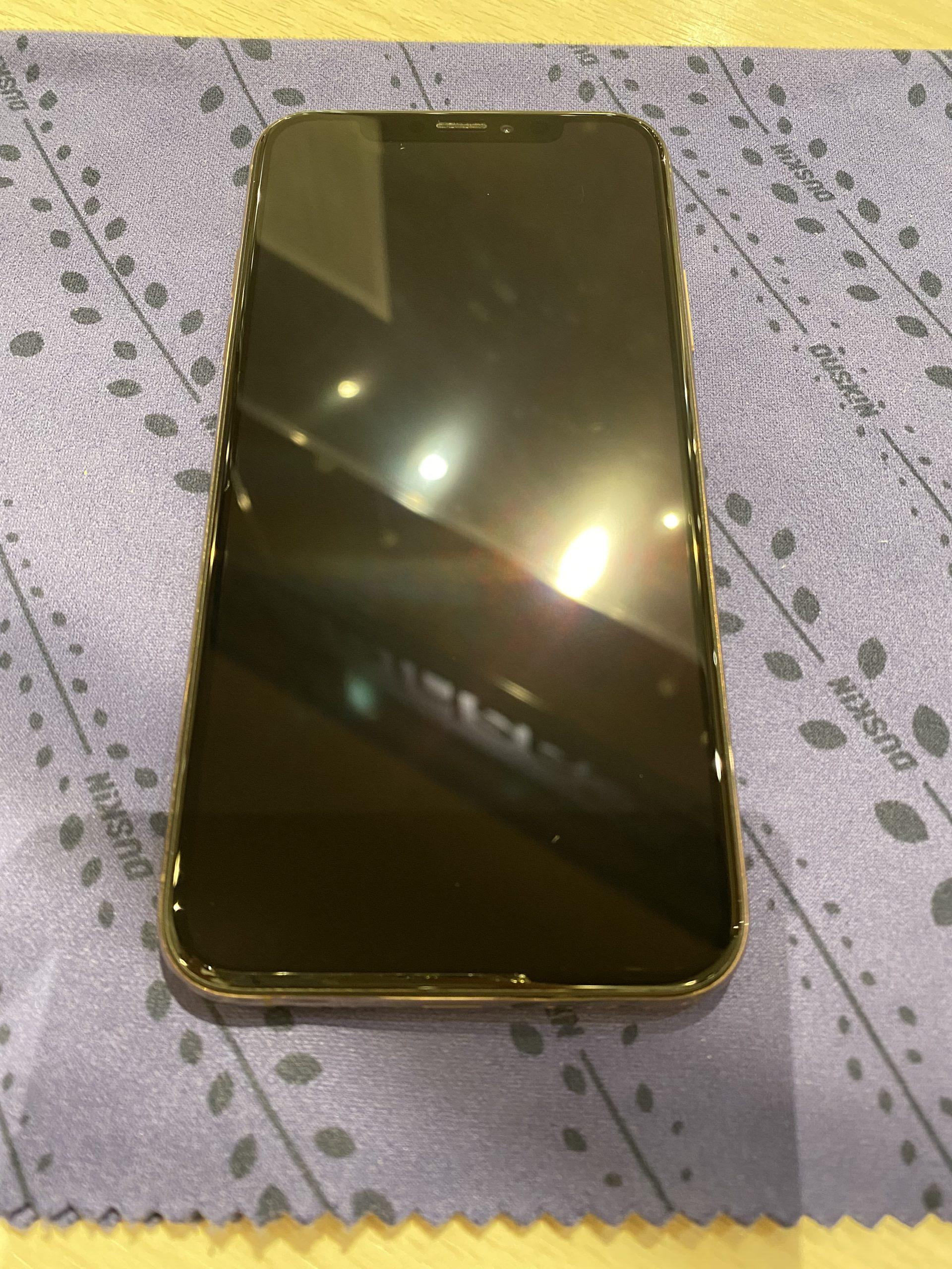 iPhoneXs au:〇 256GB ゴールド 中古