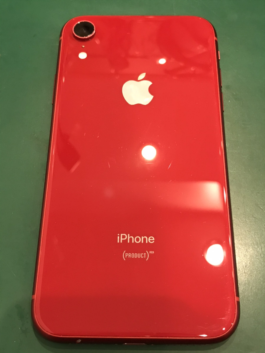 iPhoneXR 256GB レッド 中古 docomo ○判定