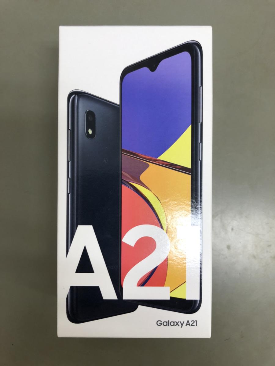 SCV49 Galaxy A21 ブラック UQ ○ 新品