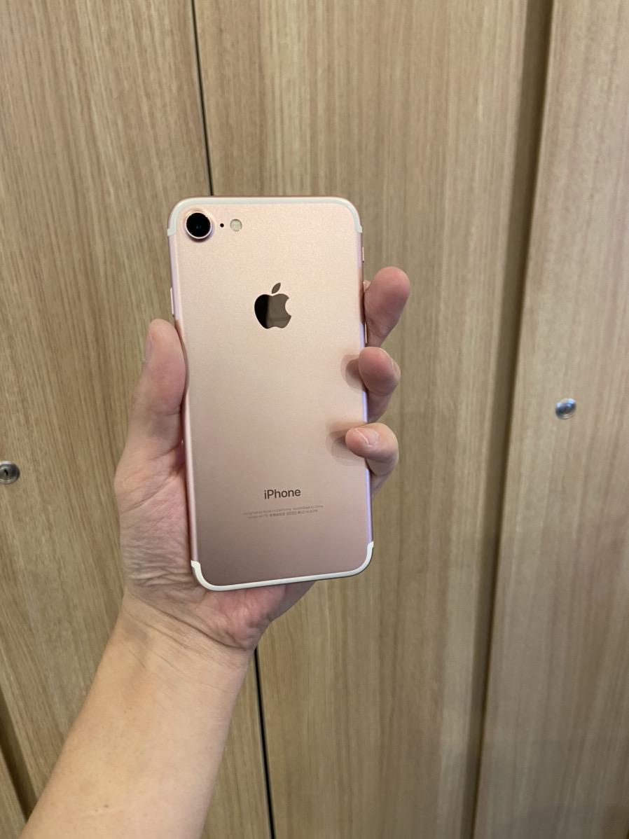 iPhone7 32GB ローズゴールドau 〇 中古