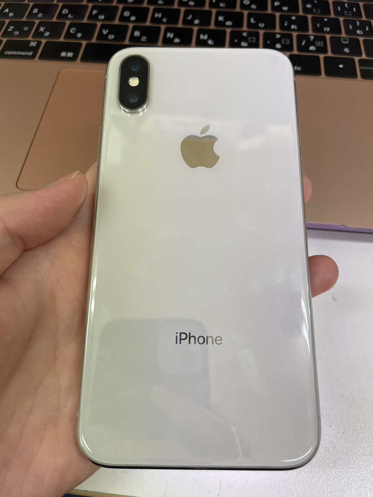 iPhoneX 256GB シルバー SoftBank○ 中古