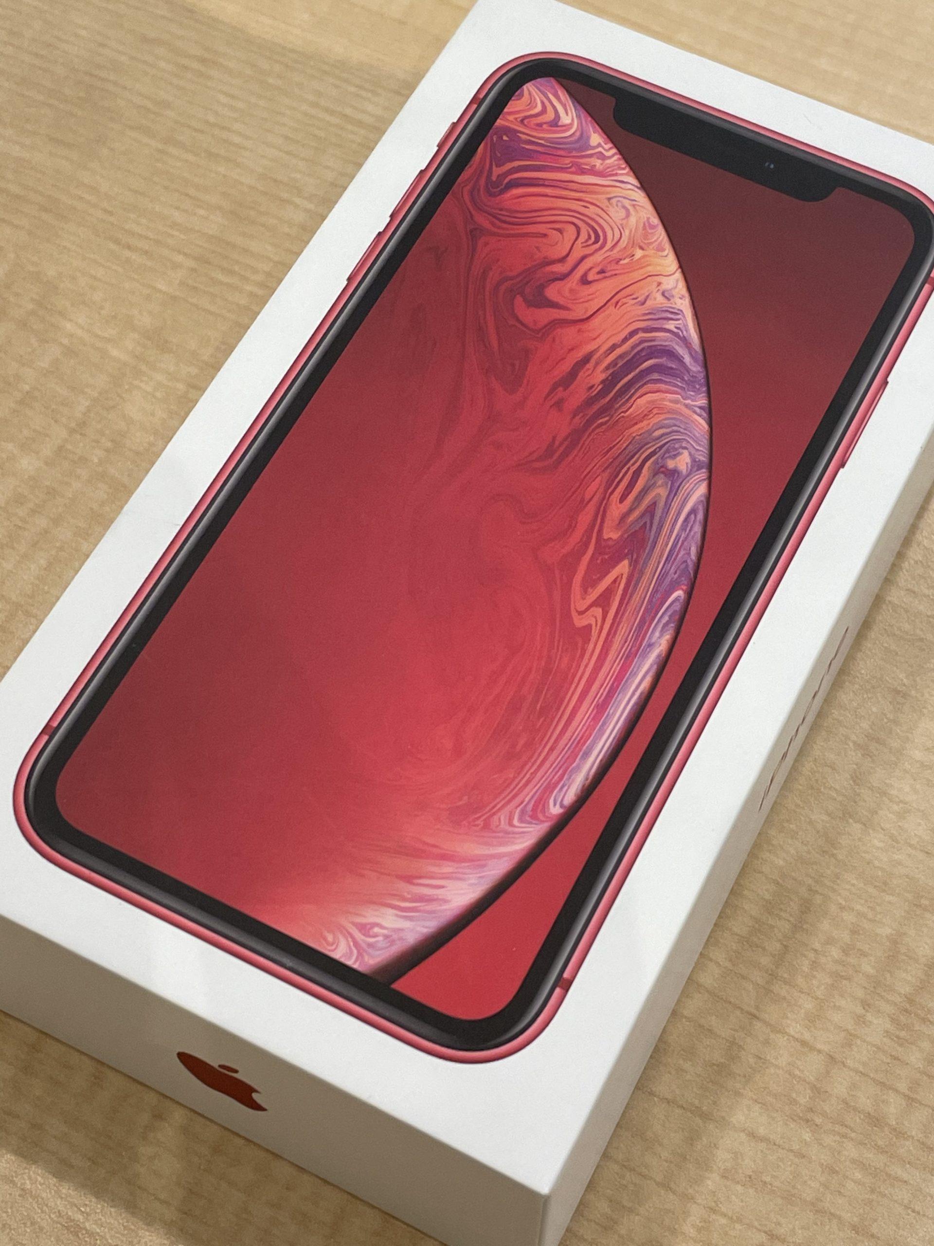 iPhoneXR 256GB レッド docomo◯ 中古箱あり