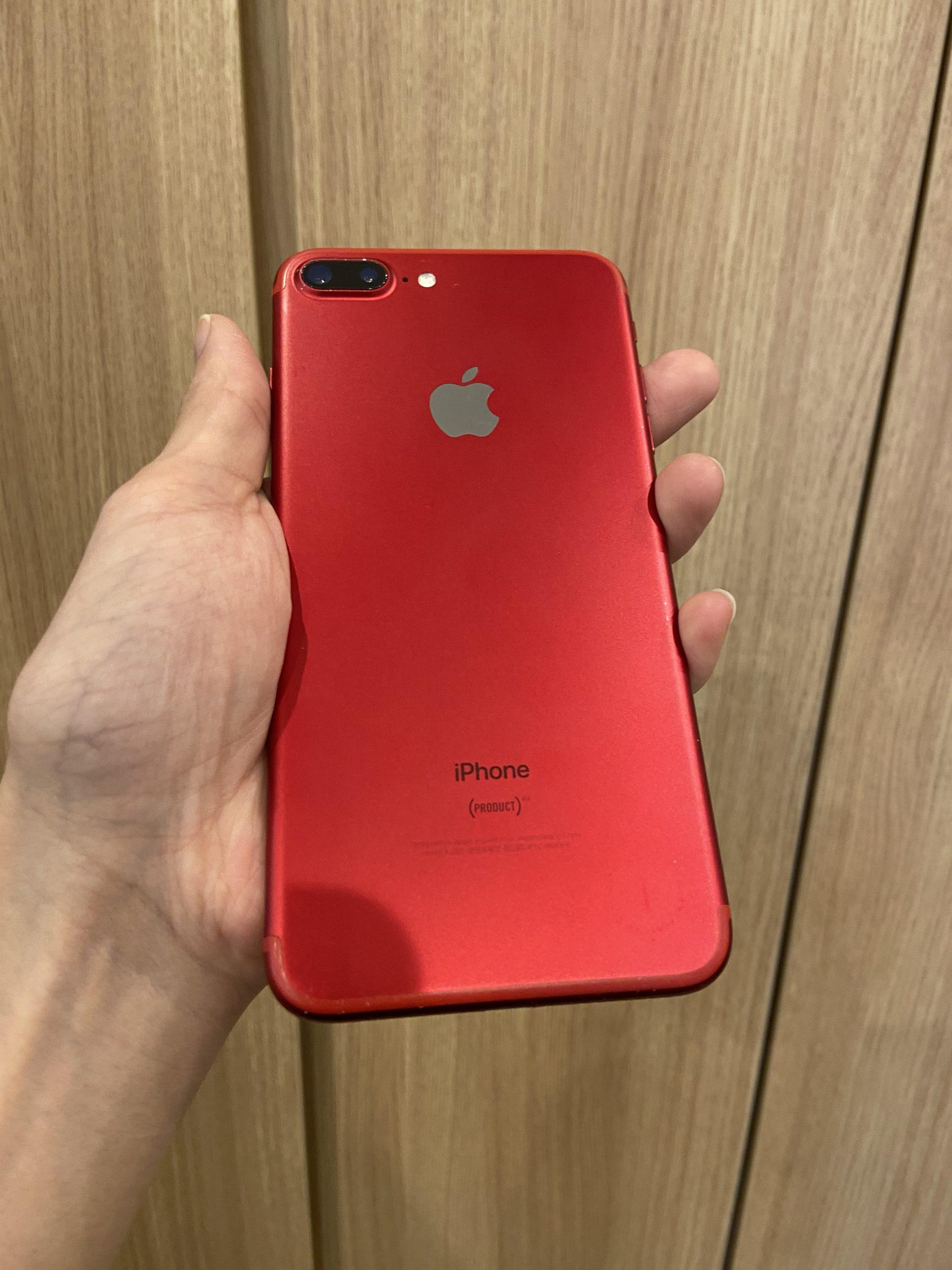 iPhone7Plus 128GB レッド docomo〇 中古