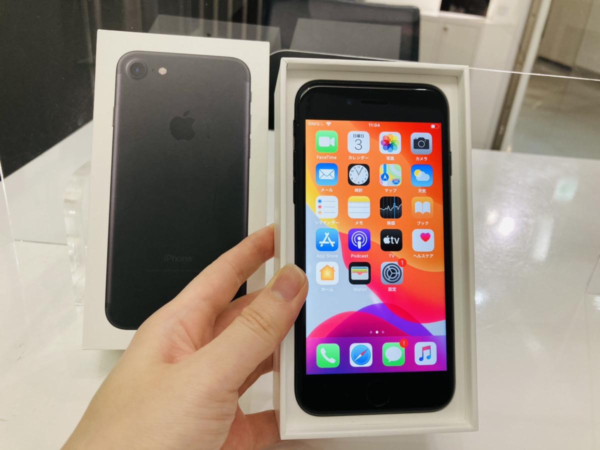 iPhone7 128GB ブラック simフリー 中古箱のみあり