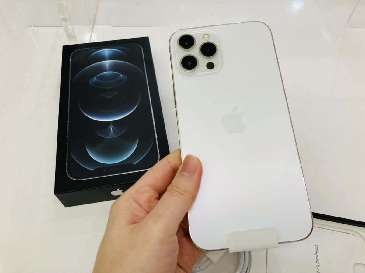 iPhone12ProMax 256GB ホワイト simフリー 中古箱付属品あり