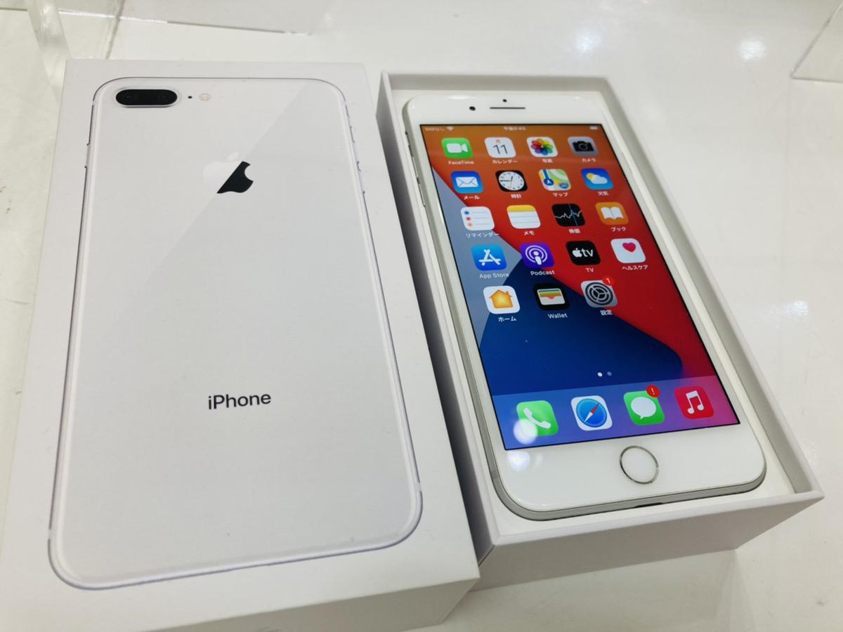 iPhone8Plus 128GB ホワイト au◯ 中古箱あり