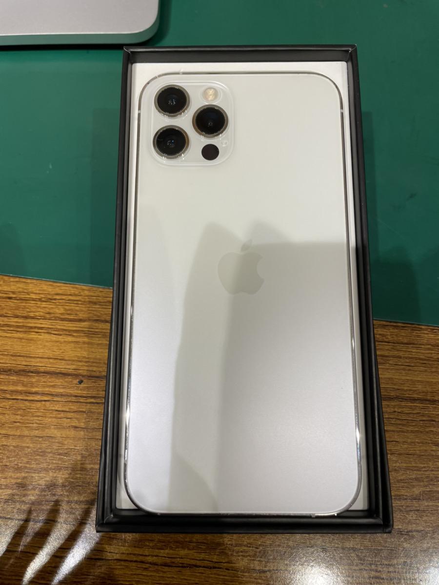 iPhone12Pro ホワイト 128GB SB △ 中古 フルセット SIMロック解除品