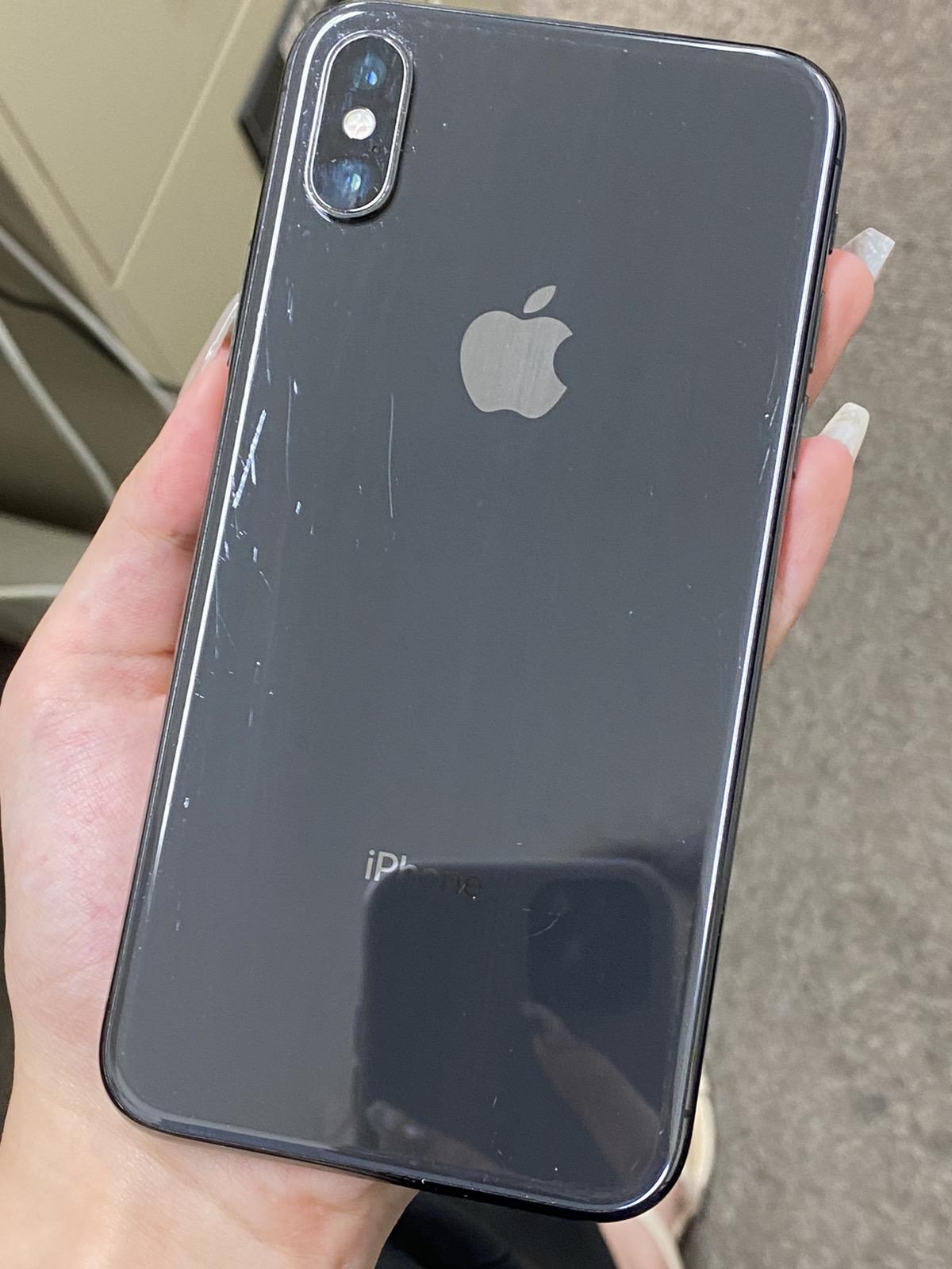 iPhoneX 256GB au○ グレー 中古